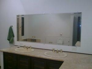 Espelho Bisotado Duplo para Banheiro