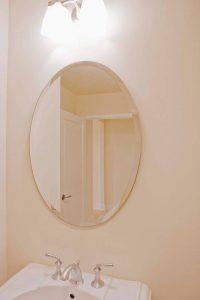 Espelho Bisotado Oval para Banheiro