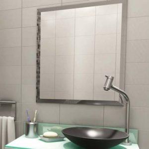 Espelho Bisotado Quadradado para Bnheiro