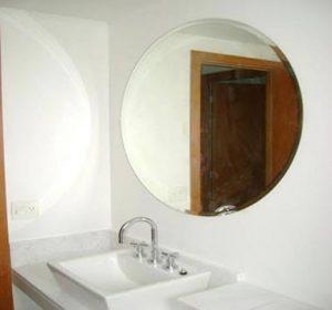 Espelho Bisotado Redondo para Banheiro